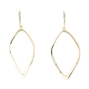 Alexis Bittar Gold Sculpted Aura Teardrop Earrings